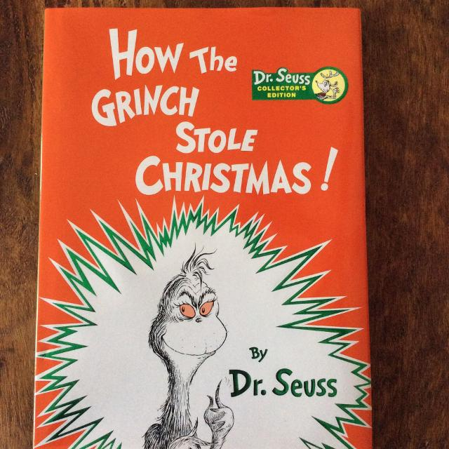 How The Grinch Stole Christmas Book Cover.New Dr Seuss How The Grinch Stole Christmas Book Green On Cover Is Shinny