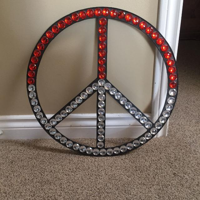 Peace Sign Wall Decor 2ft Height