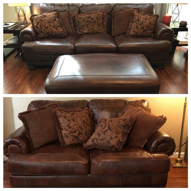 Best Leather Sofa Set for sale in Braun Road, San Antonio, Texas for ...