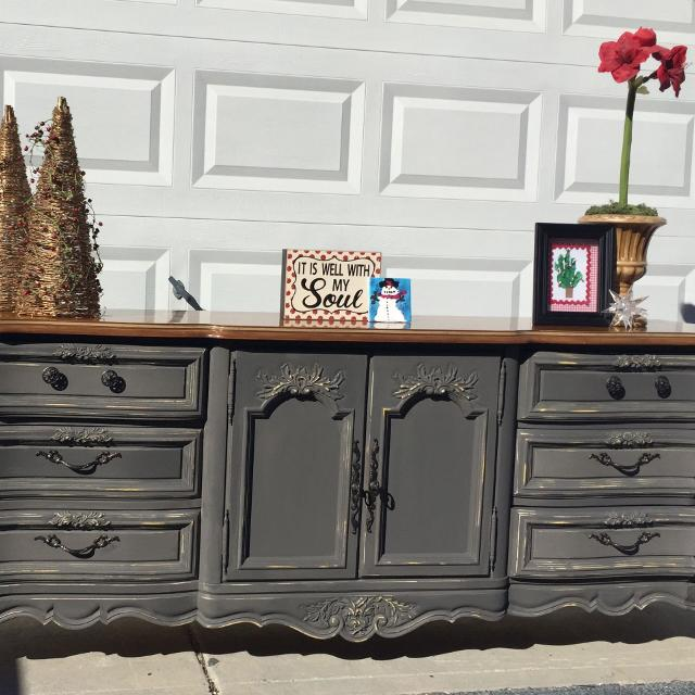 Find More Stanley Slate Gray French Provincial Buffet Triple Dresser