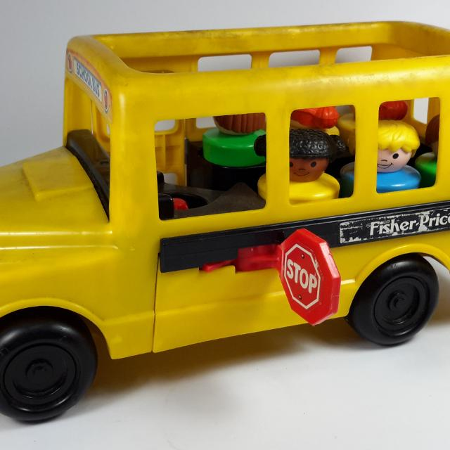 Best 1991 Fisher Price Little People School Bus #2372 for sale in ...