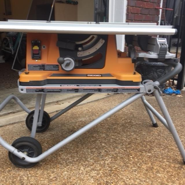 Rigid Table Saw Ts2400 1 Used In Great Condition