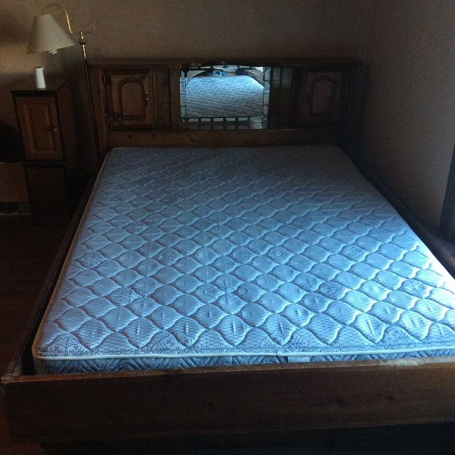 For sale queen mattress waterbed frame for sale queen for Queen size bed frames for sale
