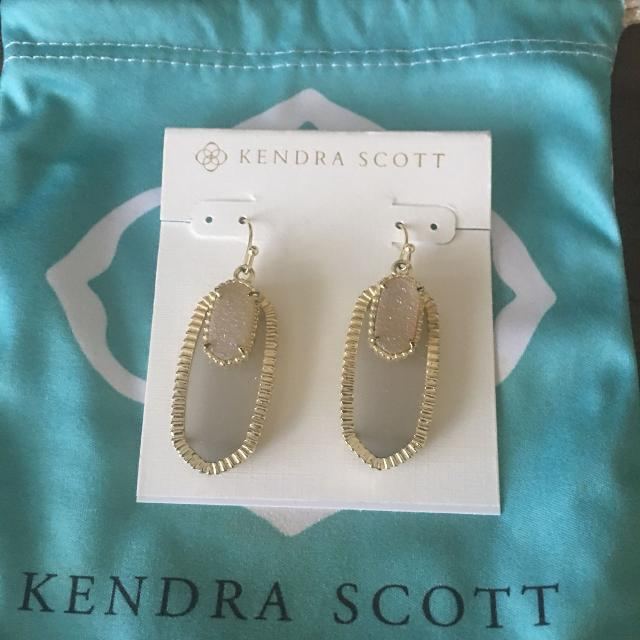 Kendra Scott Slate Iridescent Drusy Emmy Elle Earrings