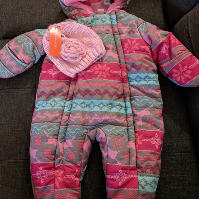 e7c36fa4e86 Best Cute Baby Girl Snowsuit + Hat - Bnwt for sale in Mississauga, Ontario  for 2019
