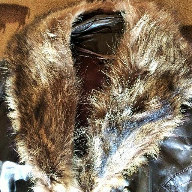 70ec26d410f7 Best Men s Leather Coat With Real Wolf Fur Collar for sale in Winkler