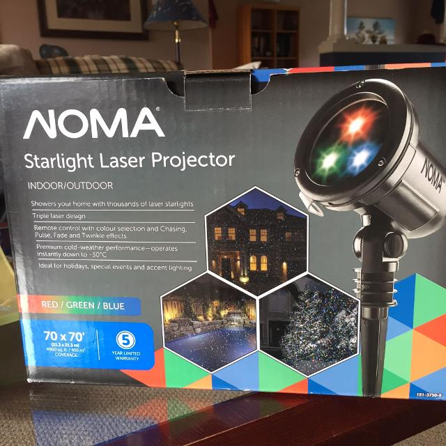 noma starlight laser projector christmas lights