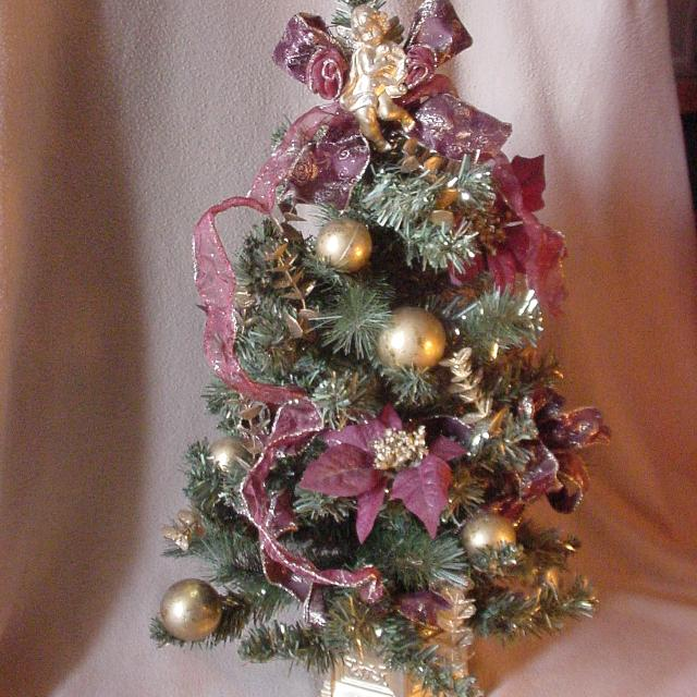 Best Burgundy/plum Gold Decorated Victorian Christmas Tree for sale in Port Huron, Michigan for 2019