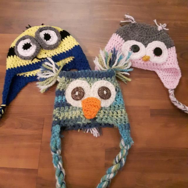 Find more Lot Of Knit Hats For 1 Year Old Ish Depending On Head Size ... b83f4753f28