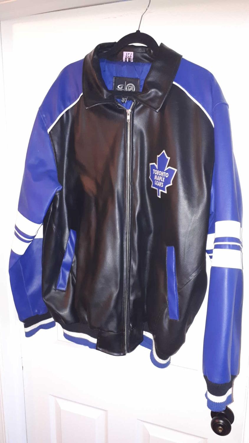 Find More Gu Toronto Maple Leafs Faux Leather Bomber Jacket For Sale At Up To 90 Off