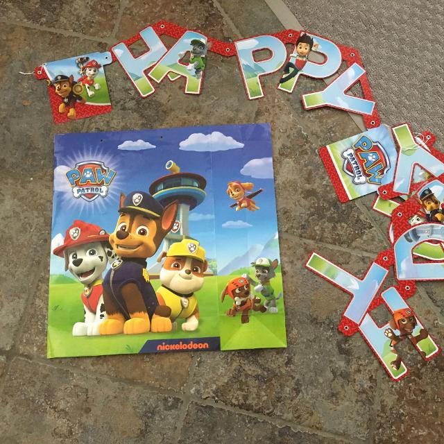 Paw Patrol Happy Birthday Banner FREE