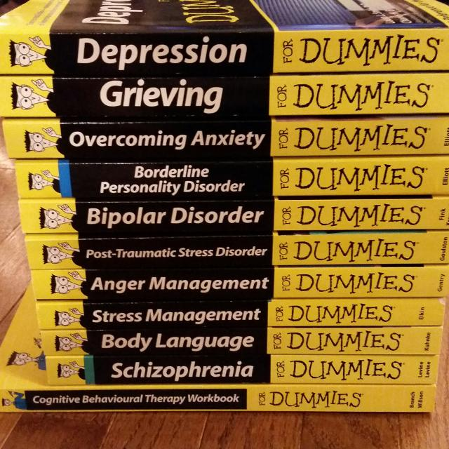 Best 2 Books Remaining Mental Health For Dummies Series For Sale