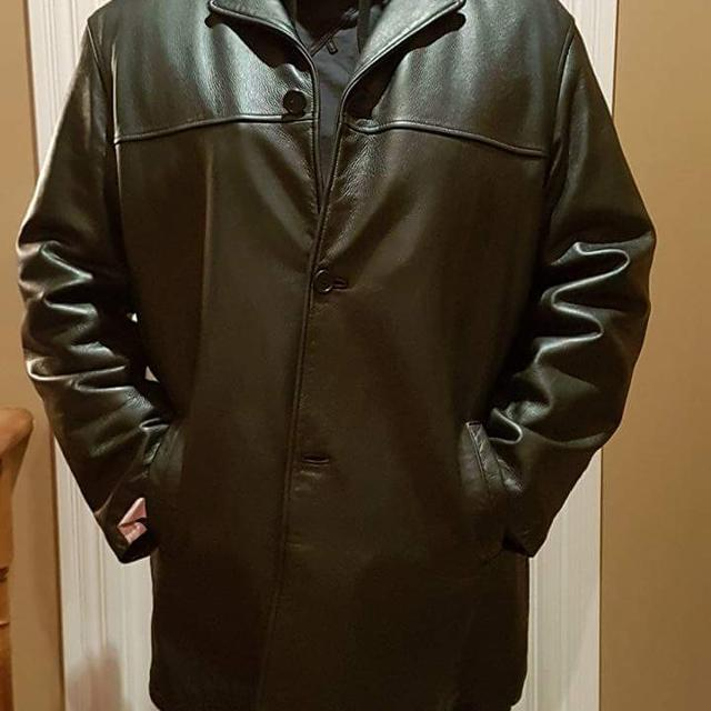 Best 3xl Mens Full Leather Car Coat / Black for sale in Barrie ...