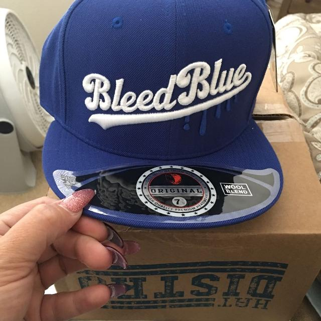 Brand new Bleed Blue Dodgers hat size 7 5/8