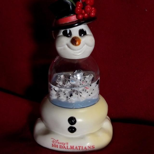 Mcdonalds Christmas Ornament.1996 Disney Made For Mcdonald S 101 Dalmatians Snowman Christmas Ornament Snow Globe