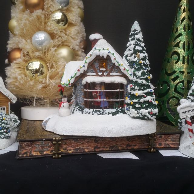 How To Store Christmas Village Houses.Thomas Kinkade Light Up Christmas Village Houses