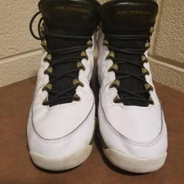 7644a28d5609 Best Air Jordan 9 Retro Bg 302359-109 White black-militia Green Size 7y for  sale in Fort Campbell