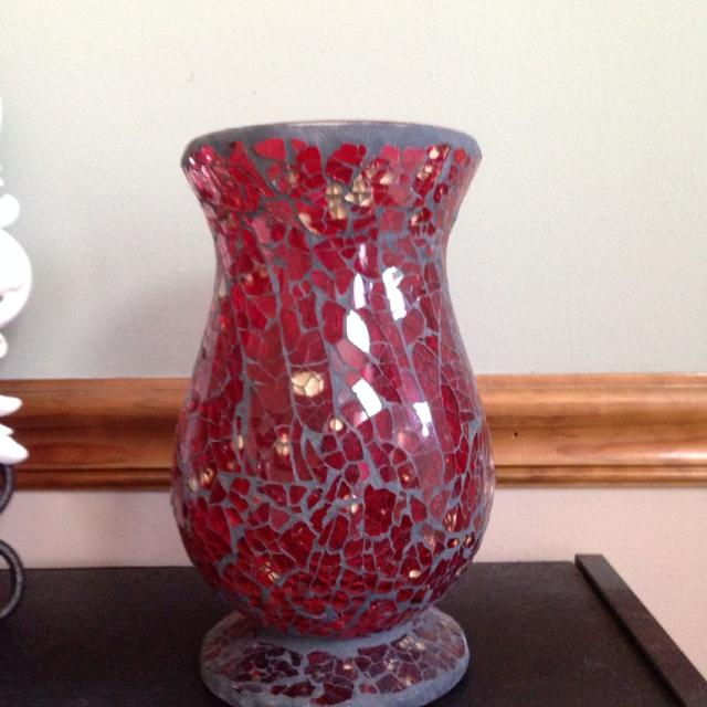 Best Red Glass Mosaic Vasecandle Holder For Sale In Lees Summit