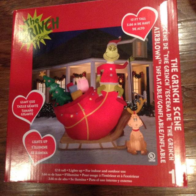 the grinch who stole christmas inflateable outdoor blow up decoration - Blow Up Christmas Decorations Grinch