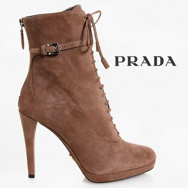 bb81486021df7 Best Prada Tan Suede Lace-up Booties-for Limited Time! for sale in West  Palm Beach, Florida for 2019