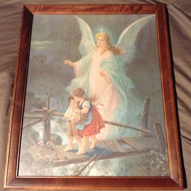 Find More Guardian Angel Watching Over Two Children On Bridge Nice