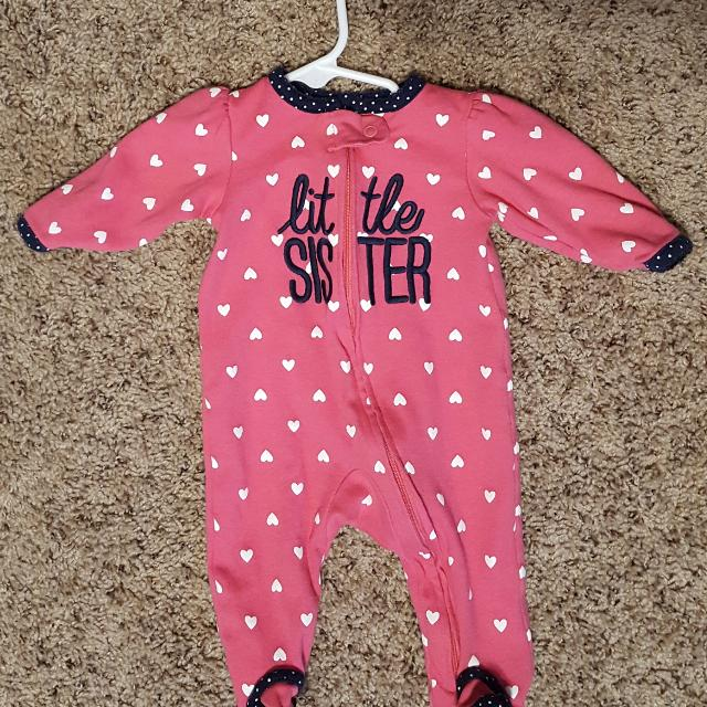 bbaf4291112a Find more Baby Girl Little Sister 3 Month Sleeper Pajamas for sale ...