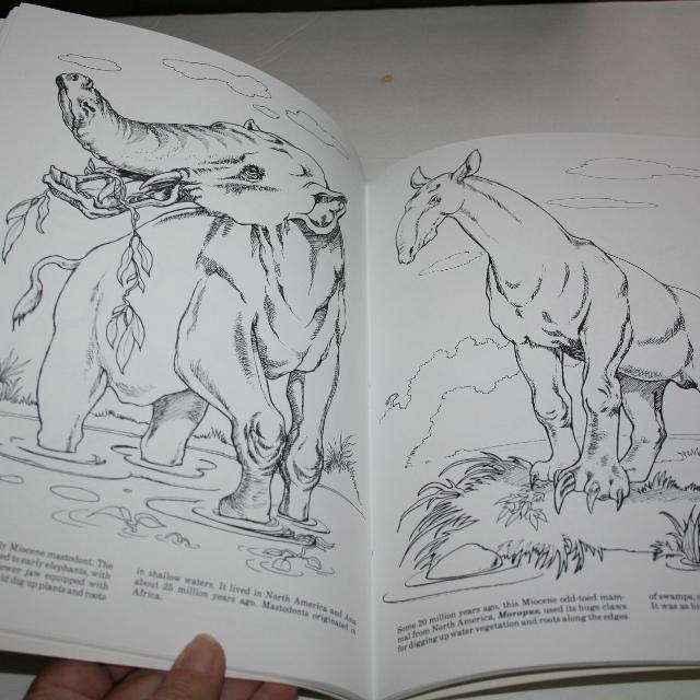 Prehistoric Mammals Coloring Book Jan Sovak Dover