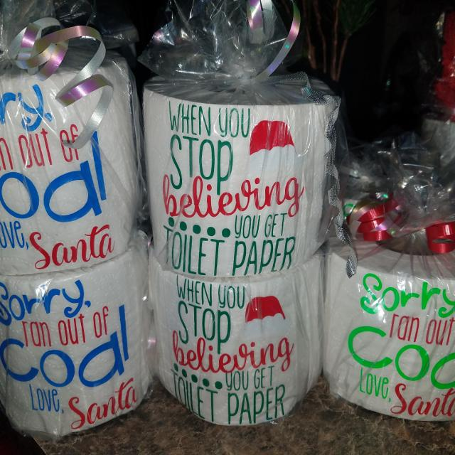 Best Gag Gift/decorative Christmas Toilet Paper $5 Each for sale in ...