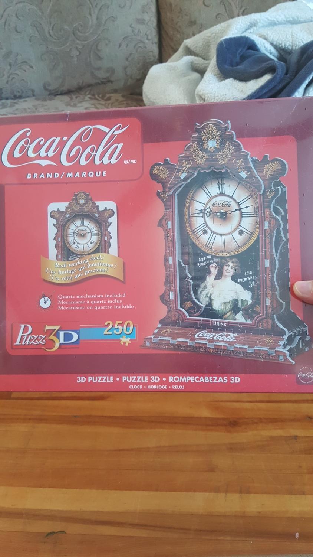 Real 3d coca cola puzzle clock