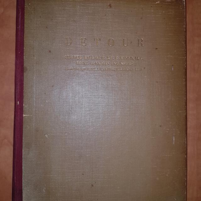 RARE SIGNED WWII Militaria book Detour: The Story of Oflag IVC by J E R   Wood, Royal Canadian Engineers, illustrated - $10
