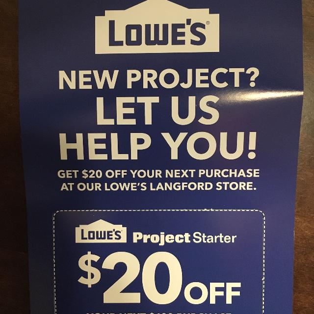 Find more Lowes Coupon for sale at up to 90% off