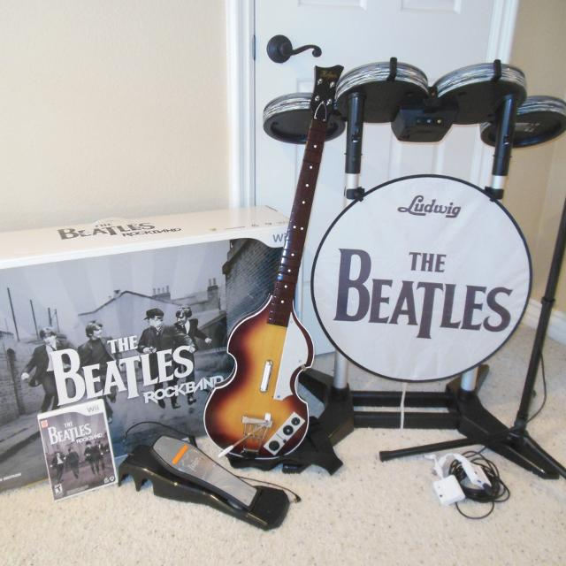 Xbox 360 the beatles: rock band limited edition premium bundle for.