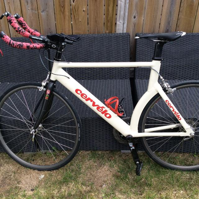 Rebuilt Cervelo P3 triathlon/time trial bike