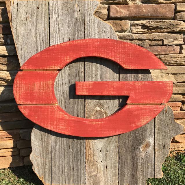 Georgia Bulldog Wood Sign