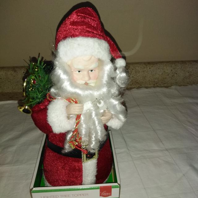 Santa Claus Tree Topper Lighted