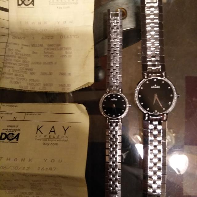 His And Hers Watch Sets >> His Hers Movado Watch Set 5600 W Receipts