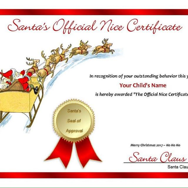 Last Minute Letter From Santa PLUS Good List Certificate Thank You