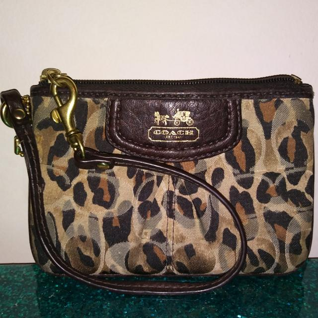 607a304416 Best Coach Authentic Cheetah Print Wristlet for sale in Overland Park
