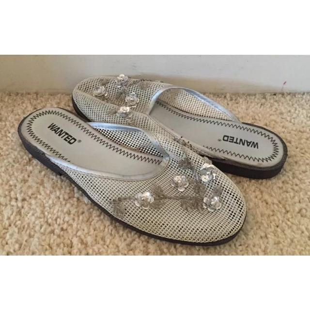496db3cdb44d Best Wanted Metallic Gray Beaded Chinese Slippers for sale in Vacaville