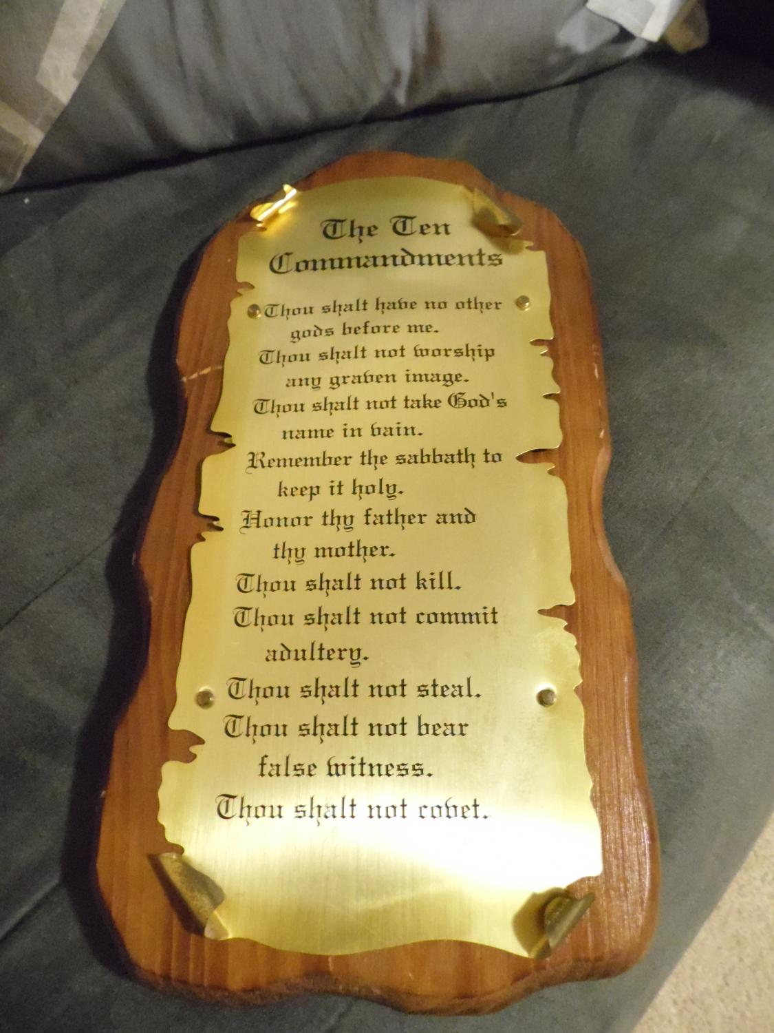 Best 10 Commandments Wall Hanging for sale in Dekalb County ...