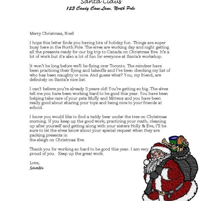 Last Minute Letter From Santa PLUS Official Good List Certificate Thank You Note
