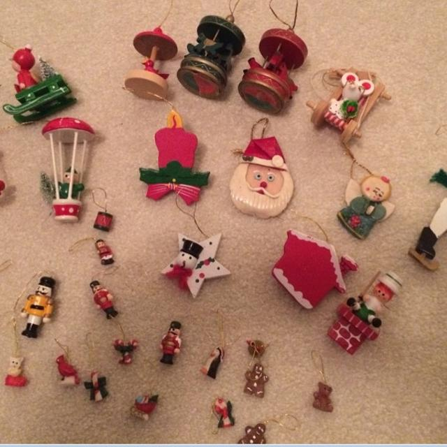 miniature wooden christmas tree ornaments