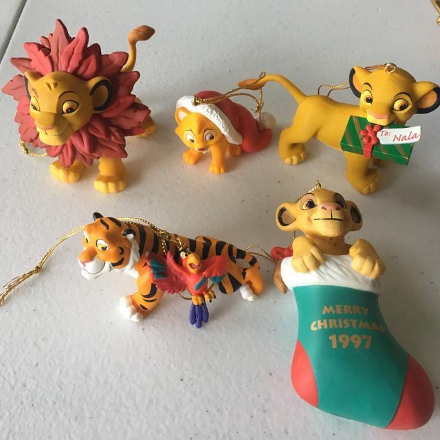 Disney Lion King Ornament Set Of 4