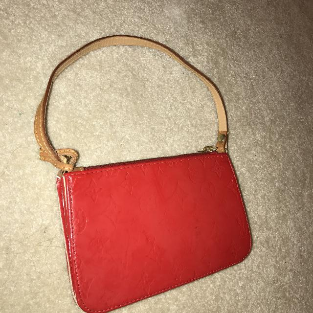 Louis Vuitton Red Purse Cross Body Strap Included