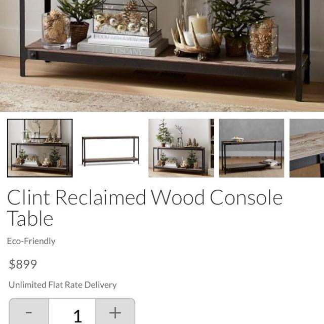 Best Pottery Barn New Clint Console Table For Sale In Morris - Pottery barn clint coffee table