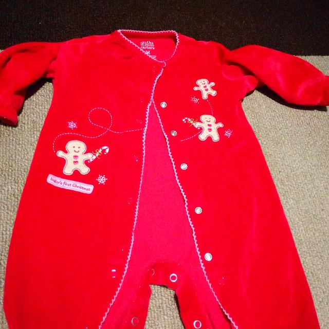 babys first christmas outfit 3 9months