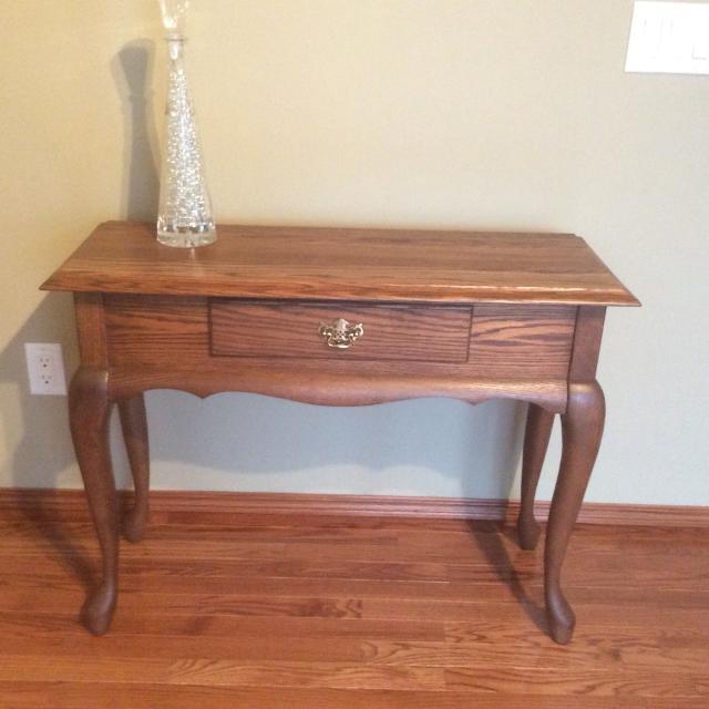 Solid Oak Queen Anne Sofa Table
