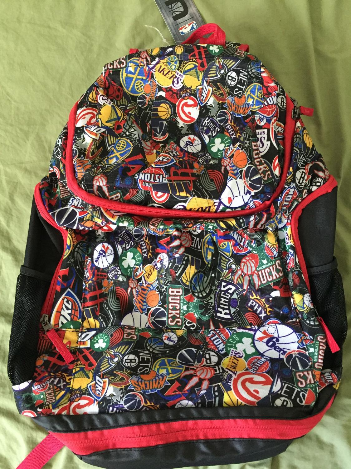 Best nba backpack with every team logo rare red trim