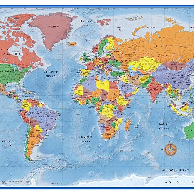 Find more price drop firm 24x36 laminated world map for sale at up price drop firm 24x36 laminated world map gumiabroncs Choice Image