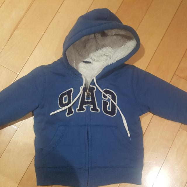 56829c52f870 Best Euc Baby Gap Fleece Hooded Sweater - Size 18-24 Months for sale ...
